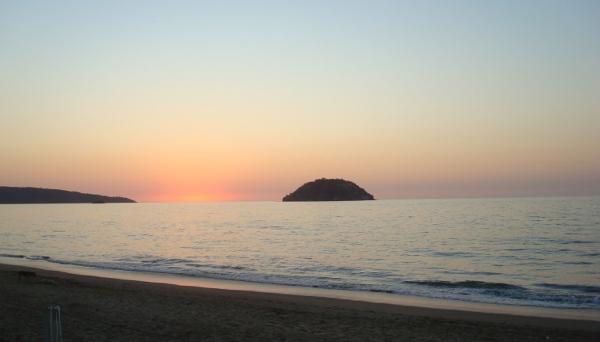Un beau coucher de soleil à La Penita