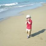 Tristan à la mer à La Peñita.
